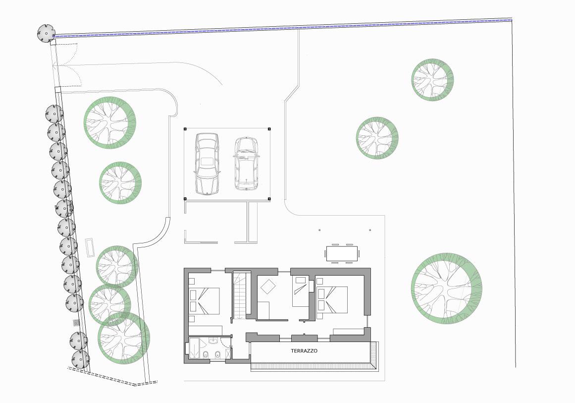 Mappa primo Piano - Villa Olivee Bellagio