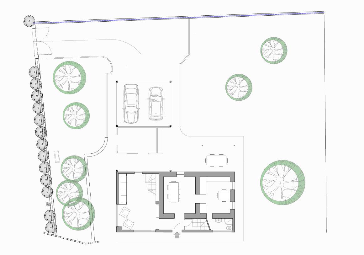Mappa Piano terra - Villa Olivee Bellagio